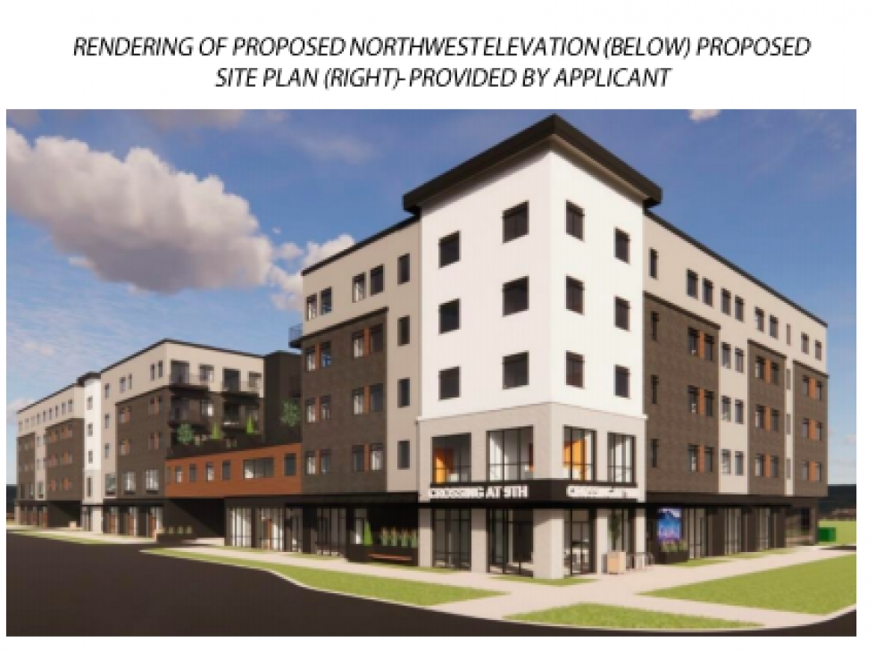 Rendering of proposed development at 880 W 200 S. If it is approved as TSA (Transit Station Area) Development score it can be approved administratively and will not require any sort of public hearing.