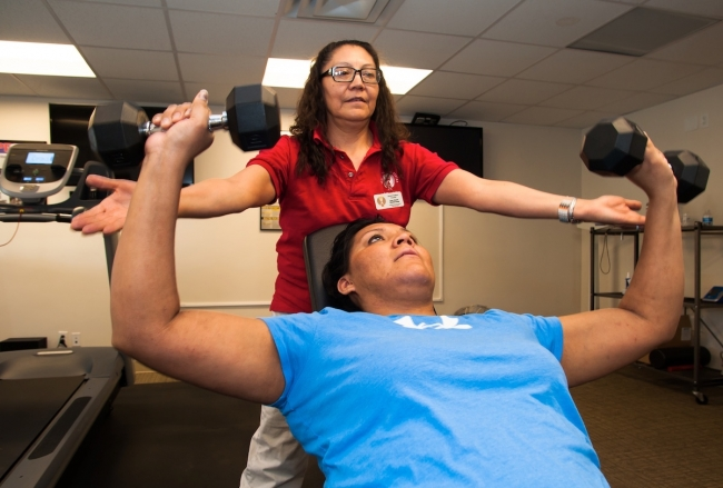 Exercise specialist advocates for her community's health