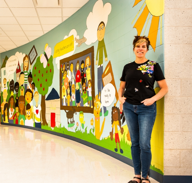 Escalante Elementary teacher engages families in art projects